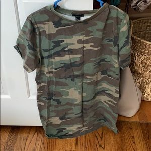 FOREVER 21 CAMO TSHIRT DRESS SIZE L